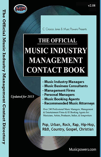 Music Managers, Music Agents, Music Attorney contacts